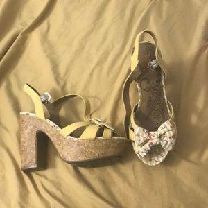 Jelly pop high heel sandals